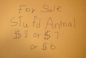 For Sale  Stufd Anmal   $8 or $7 or $6.